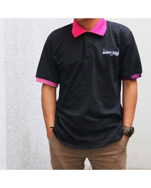 Polo Shirt Night Race Black