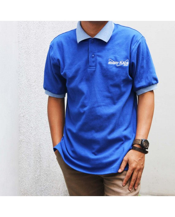 Polo Shirt Night Race Blue