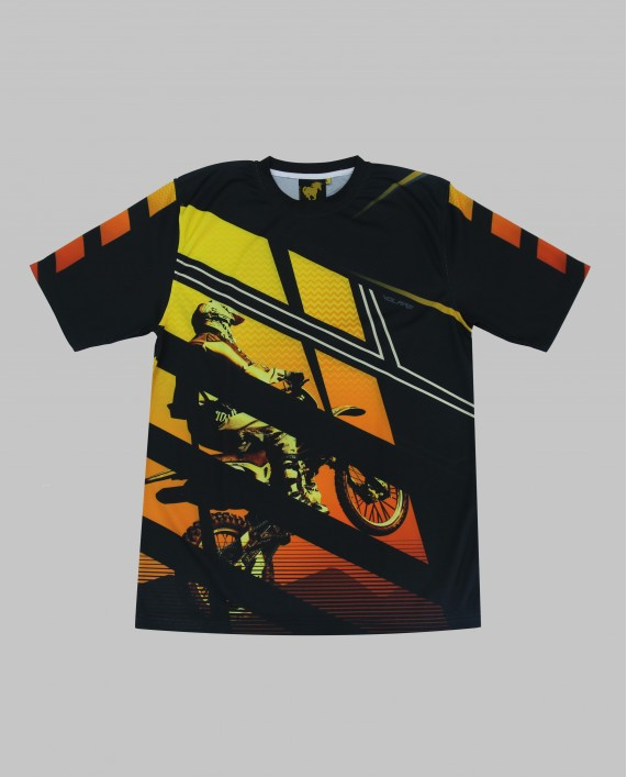 JERSEY MOTOCROSS BLACK ORANGE